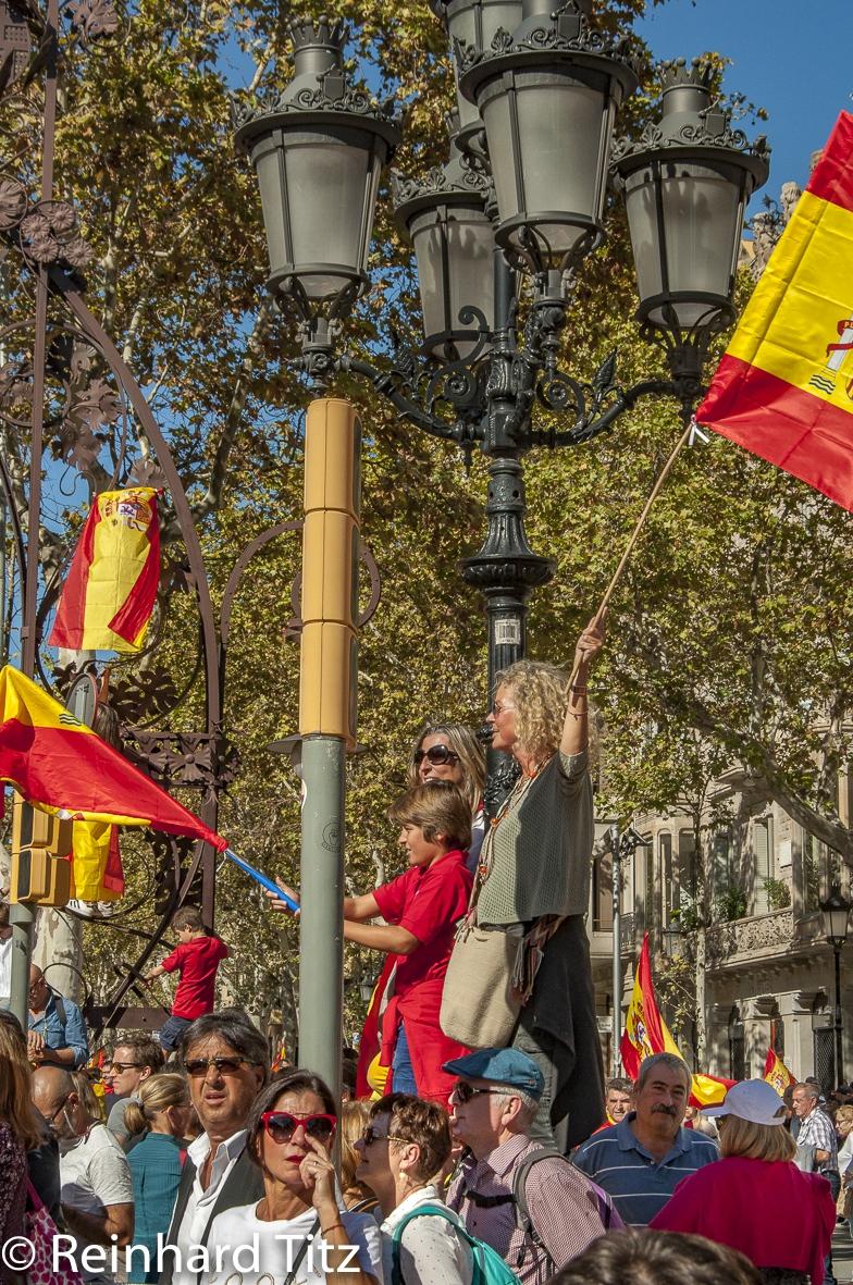 Demo zum Unabhängigkeitsreferendum in Katalonien 2017 - Barcelona